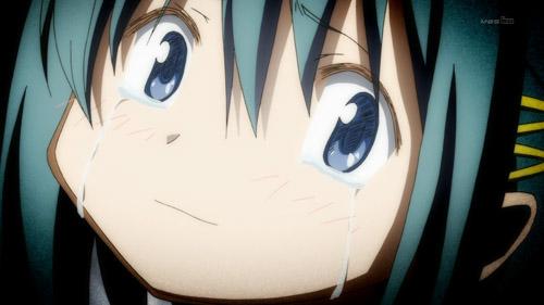 Sayaka, immediately before her inevitable demise.